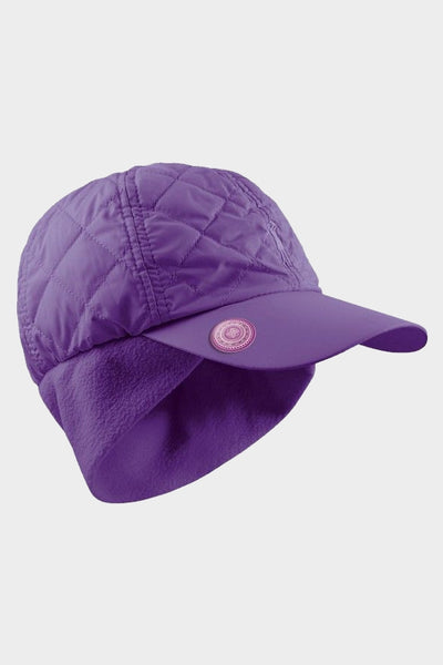 Quilted ball marker cap - purple