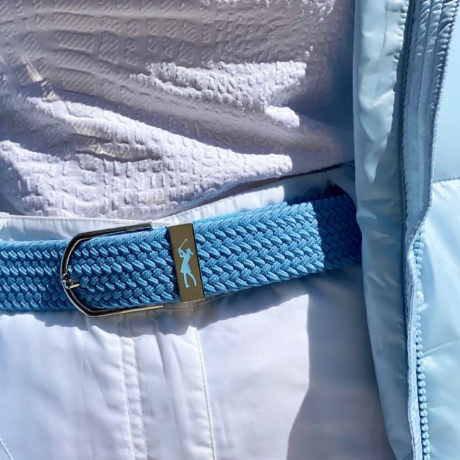Woven golf belt - Cornflower blue