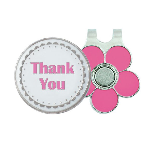 Ball marker & visor clip - Thank you (gift boxed)