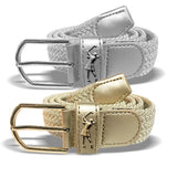 Woven golf belt - Gold