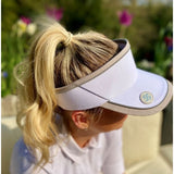 Velcro visor (with magnetic ball marker) - white
