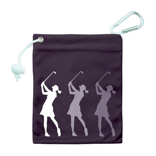 Tee & accessory bag - black silhouette lady