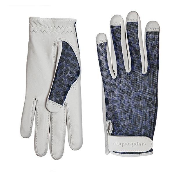 Sun glove - cabretta leather Blue cheetah
