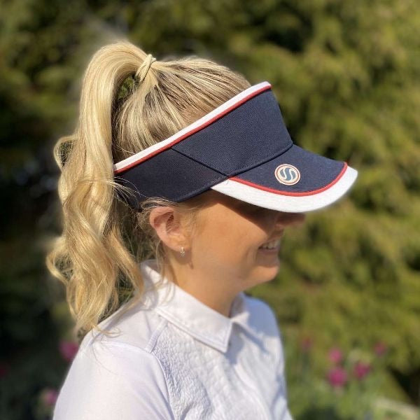 Velcro visor (with magnetic ball marker) - navy