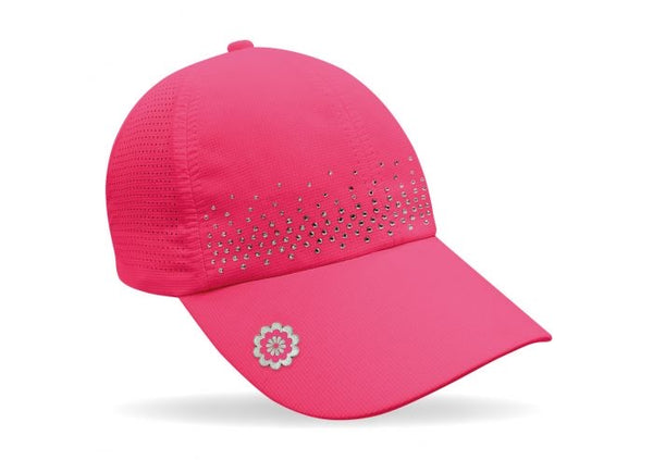Magnetic soft fabric Golf Cap - Pink with jewel detail