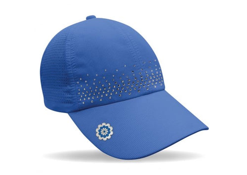 Magnetic soft fabric Golf Cap - Blue with jewel detail