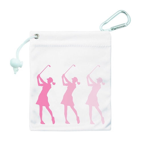 Tee & accessory bag - pink silhouette lady