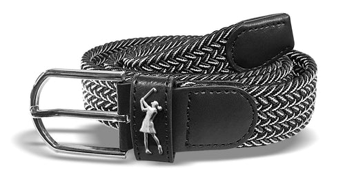 Two tone Woven golf belt - Black and White