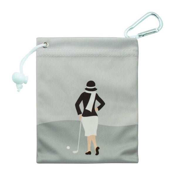 Tee & accessory bag - silver classic lady