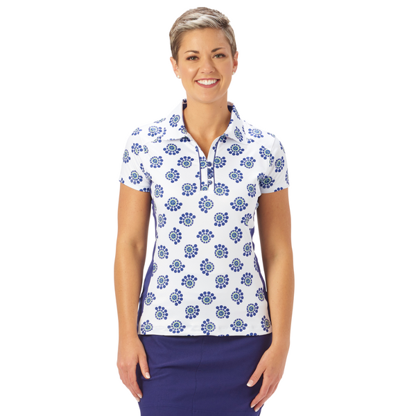 Nancy Lopez Bloom short sleeved polo - Midnight