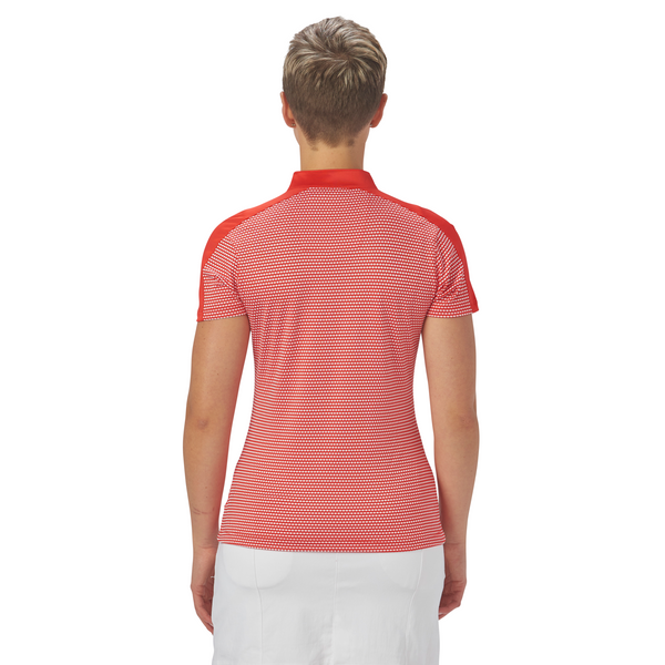 Nancy Lopez Flex short sleeved polo - Red