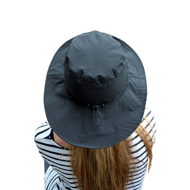 Waterproof rain hat - black