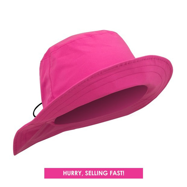 Waterproof rain hat - pink