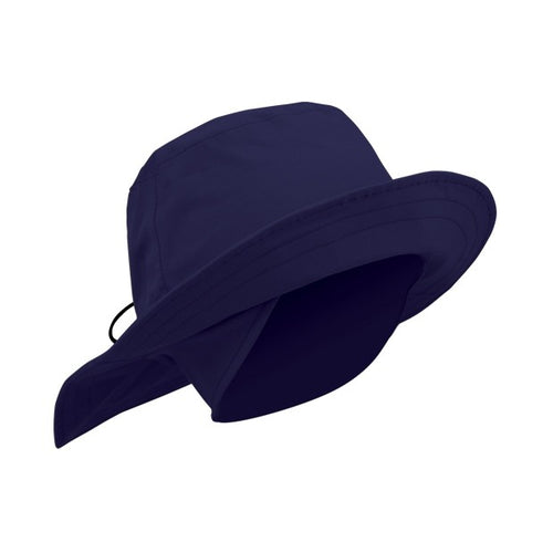 Fleece lined waterproof rain hat - navy