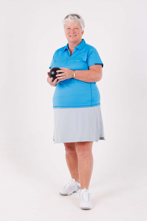 Nancy Lopez Wicked short sleeved polo - Blue bird