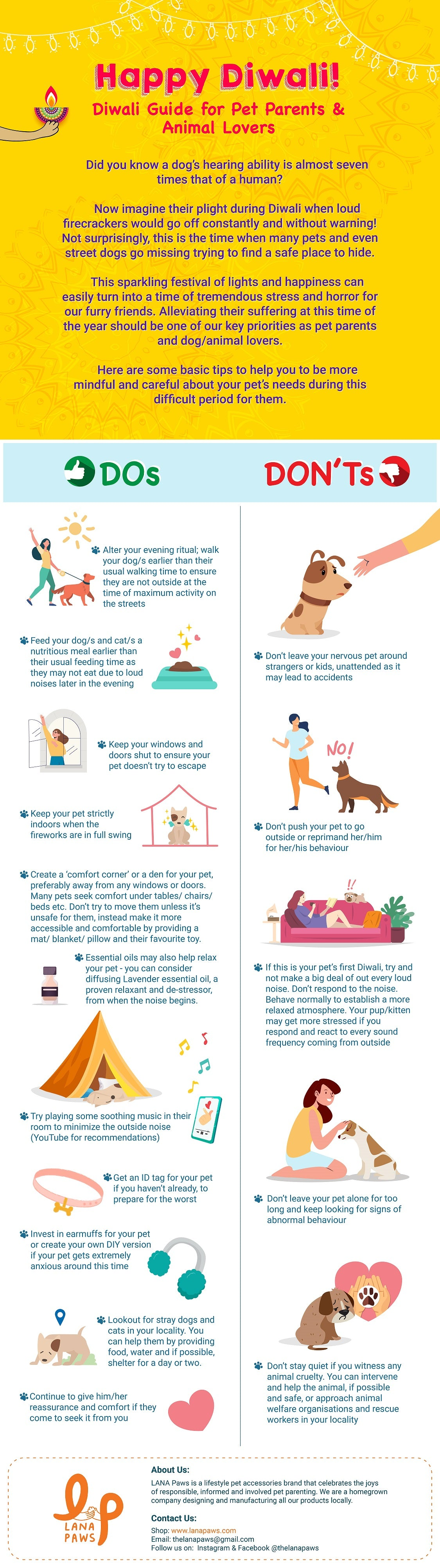 how to help animals and pets during Diwali