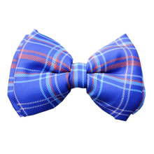 Lana Paws winter plaid dog bow tie blue