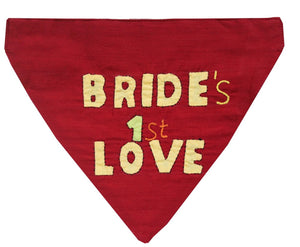 Bride's First Love - Handmade Applique Work Adjustable Dog Bandana