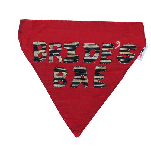 Bride's BAE - Handmade Wedding Dog Bandana