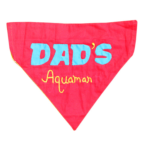 Handmade Personalised Applique Work & Embroidered Dog Bandana