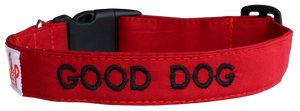 Lana Paws cotton dog collars red