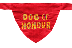 Dog Of Honour Wedding Dog Bandana (Silk)