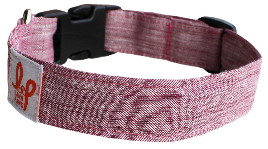 Lana Paws natural hemp dog collar for small, medium and large dogs