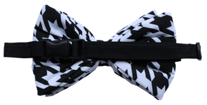 Black & White Houndstooth  - Adjustable Dog Bowtie