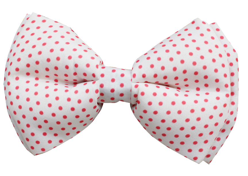 white and red polka dots dog bow tie Lana Paws