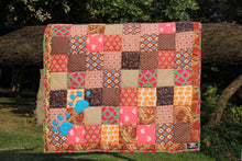 Dog Mat/ Dog Blanket in Patchwork (Tiny Hearts) - Large