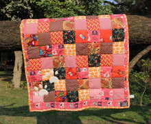 Dog Mat/ Dog Blanket in Patchwork (Kitty Love) - Large