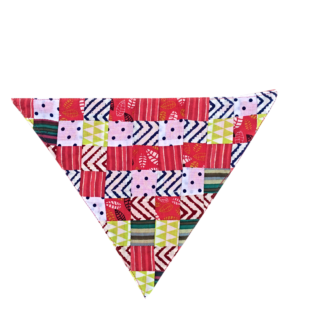 Patchwork Love - Handmade Patchwork Slip-on Dog Bandana (Limited Edition)