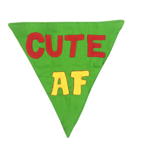 Cute AF - Handmade Patchwork Slip-on Dog Bandana (Limited Edition)