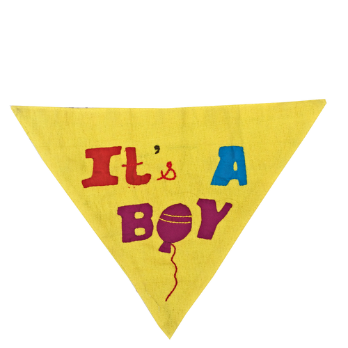It's a Boy - Handmade Patchwork Slip-on Dog Bandana (Limited Edition)