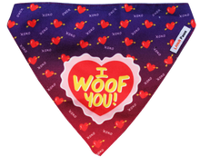 I Woof You (Valentine's Day Special) - Adjustable Bandana