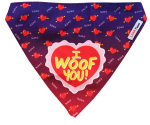 Lana Paws I woof you dog bandana scarf