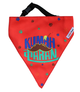 Lana Paws dog bandana red kumbhkaran