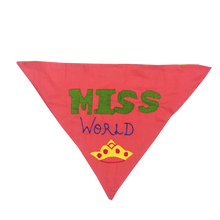 Miss World - Handmade Patchwork Slip-on Dog Bandana (Limited Edition)