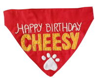 Personalised/ Customised Name Dog Bandana/ Dog Scarf - Adjustable