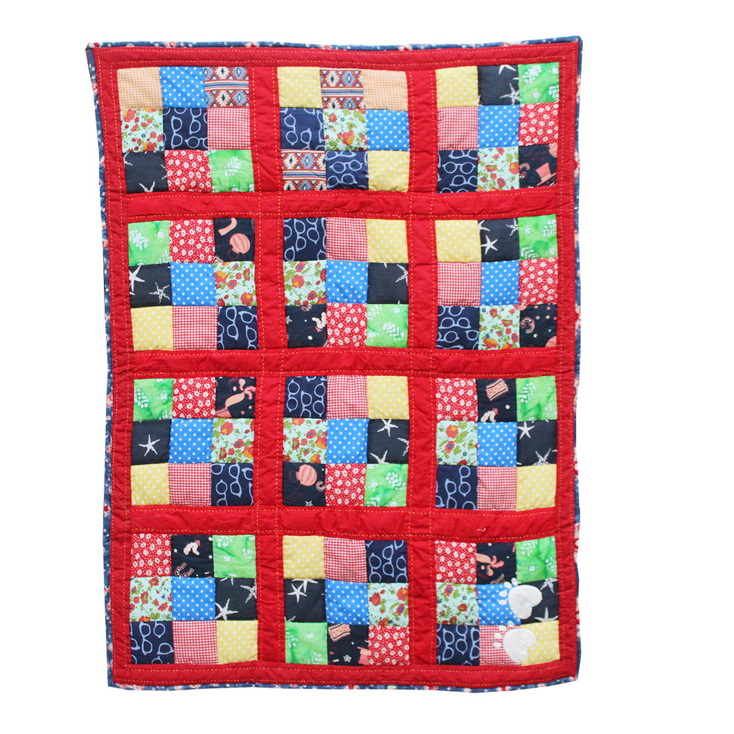 Lana Paws patchwork dog mat red