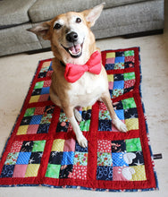 Lana Paws red dog bed floor mat handmade