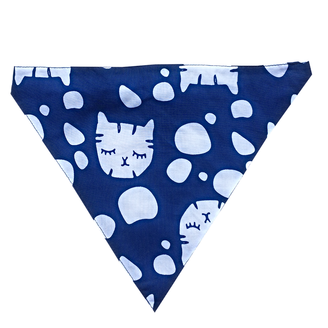 Sleepy Kitty - Dog Bandana