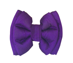 Aubergine Purple Silk Dog Bow tie (Adjustable)
