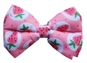 Strawberry Cream Dog Bowtie (Adjustable)