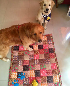 Lana Paws patchwork pet mats and pet beds
