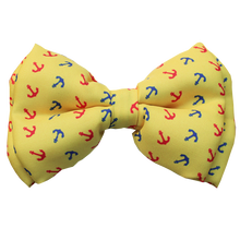 Lana Paws yellow anchor dog bow tie