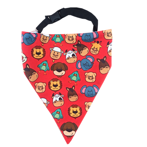 Animal Farm - Adjustable Dog Bandana/ Dog Scarf (Red)