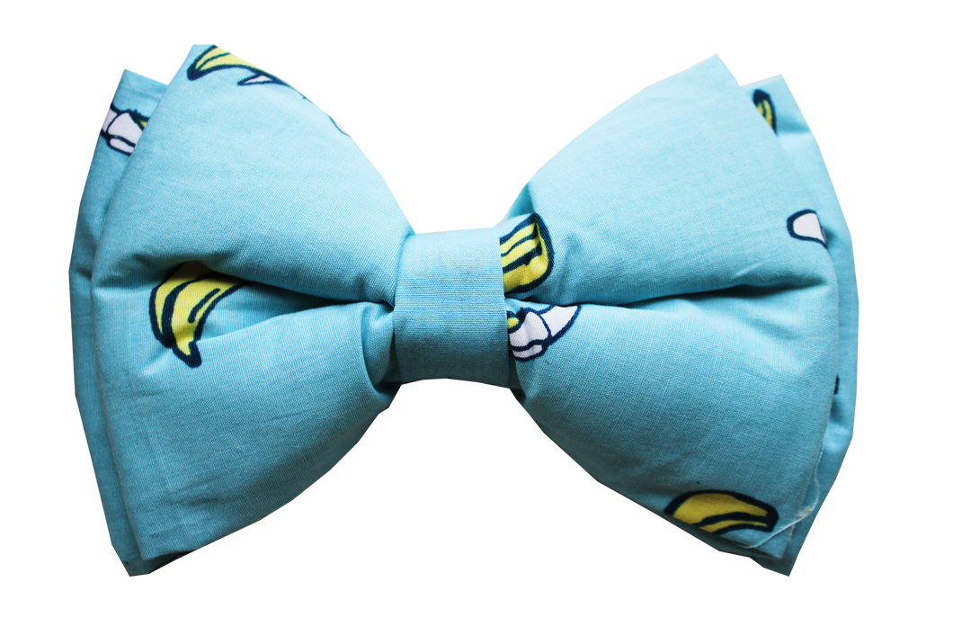 Lana Paws bananas blue dog bow tie