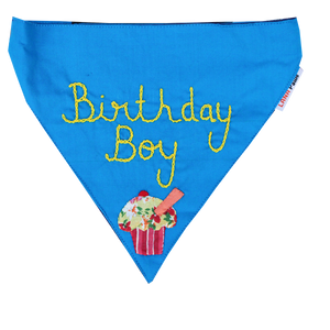 Birthday Boy! - Handmade Adjustable Dog Bandana