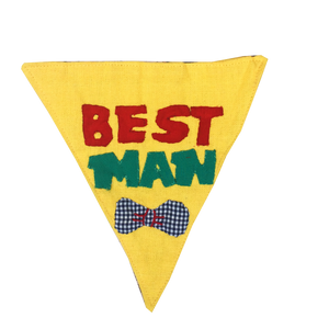 Best Man - Handmade Patchwork Slip-on Dog Bandana (Limited Edition)